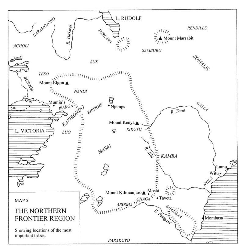 Masai tribe map